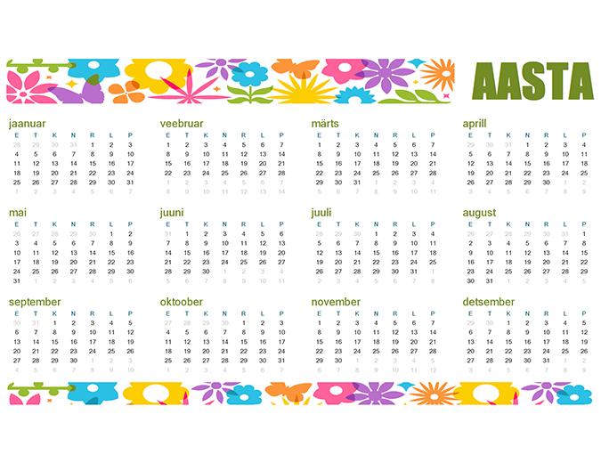 Lõbus kalender mis tahes aasta jaoks