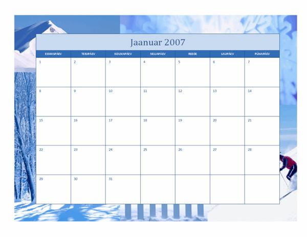 Kalender 2007 (12 lk, aastaaegade kujundus)