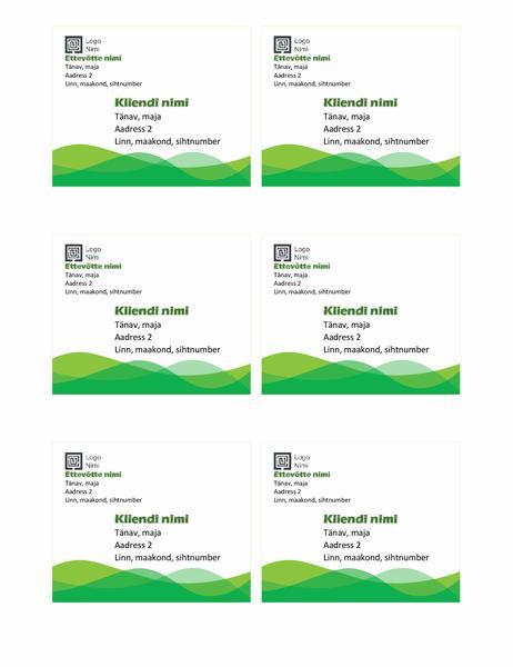 Aadressisildid (kujundus Roheline laine, 6 tk lehel)
