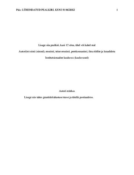 APA laadi kasutav uurimistöö