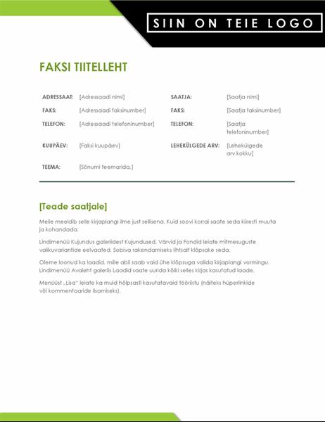 Silmatorkava logoga faksi tiitelleht