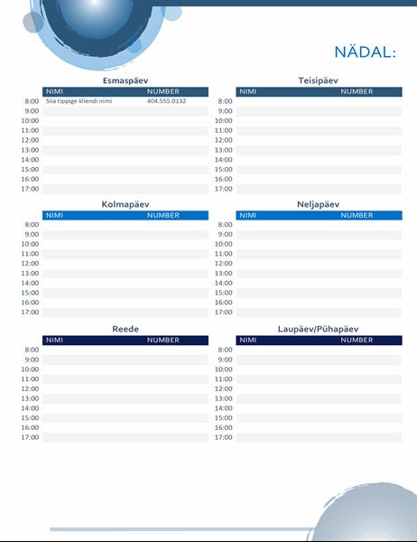Kohtumiste kalender Sinised kerad