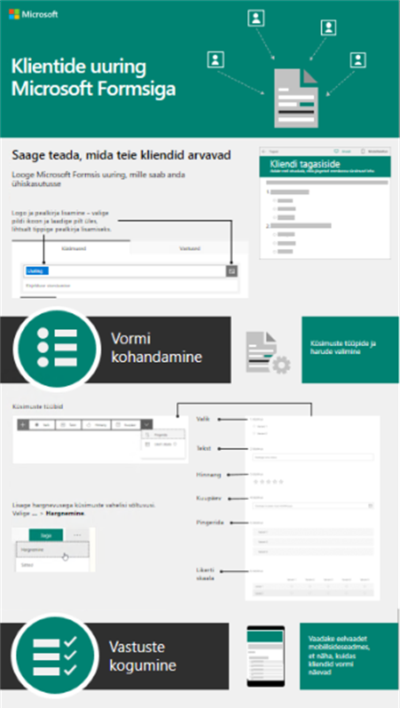 Klientide uuring Microsoft Formsiga