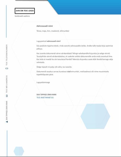 Kuusnurkadega kujundusega kirjaplank