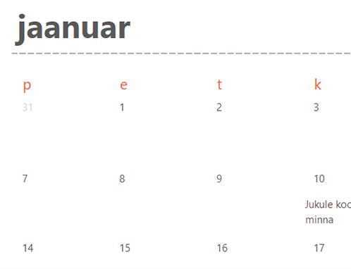 Igihalja kalendri sakid (valge)