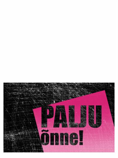 Sünnipäevakaart, kriimuline taust (roosa, must, pooleks murtav)