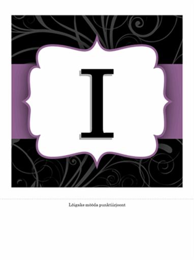 Tähtpäeva ribareklaam (lilla lindiga kujundus)