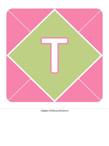 Plakat Tere tulemast, pisitüdruk (roosa, lilla, roheline)