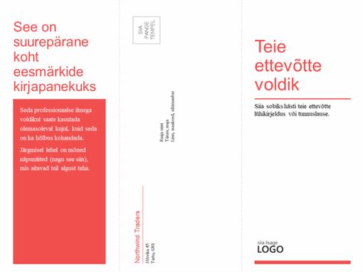 Kolmeosaline ettevõtte meditsiinialane voldik (punane, valge kujundus)