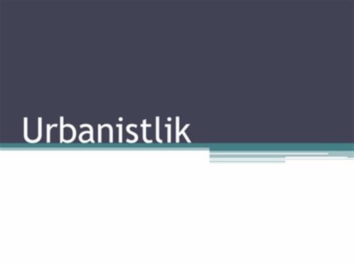 Urbanistlik