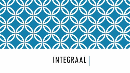 Integraal