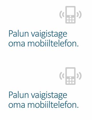 Meeldetuletuse mobiiltelefoni väljalülitamiseks