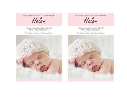 Pisitütre sünni teade