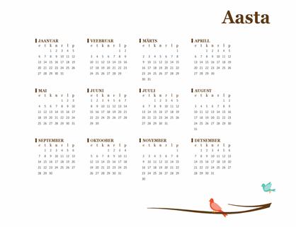 Lindude aastakalender (E–P)