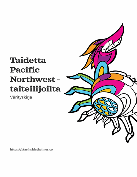 Pacific Northwest -värityskirjan taidetta