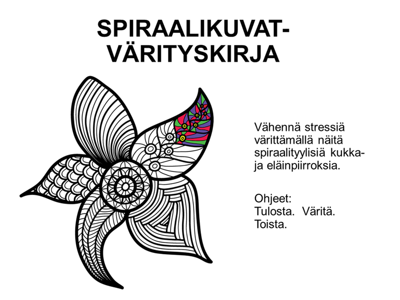 Spiraalikuvat-värityskirja