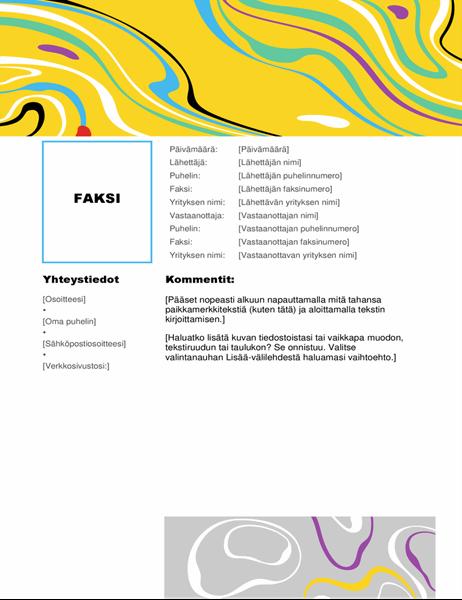 Faksin kansilehti (värikäs pyörre)