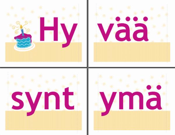 Hyvää syntymäpäivää -nauha