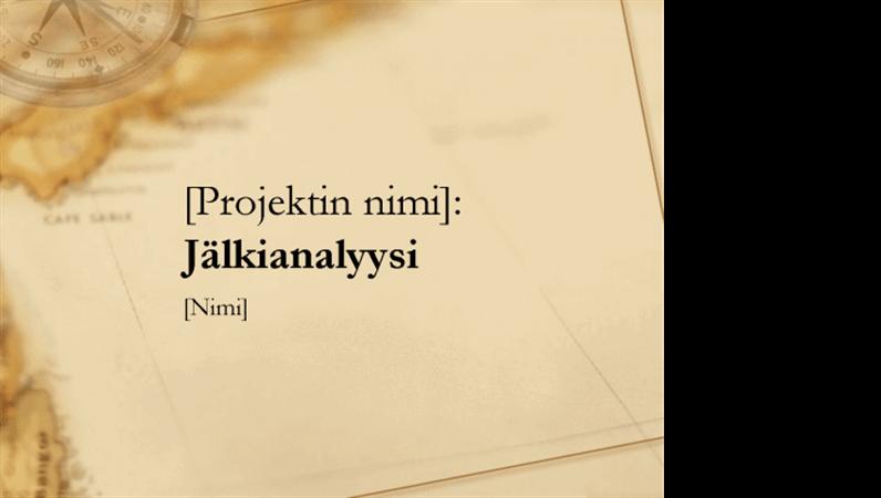 Projektin jälkiselvittelyä koskeva esitys