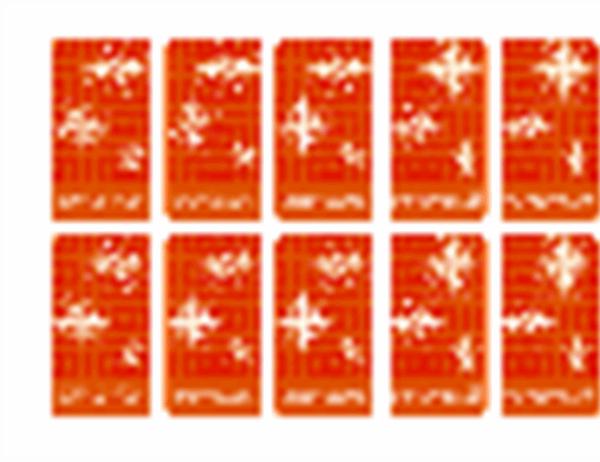 Lahjapakettikortteja (lumihiutale; Avery 5871-, 8871-, 8873-, 8876- ja 8879-yhteensopiva)