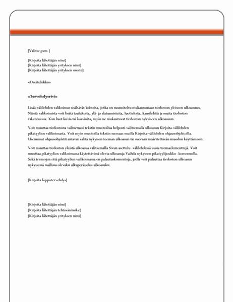 Postitietojen yhdistämiskirje (Virallinen-teema)