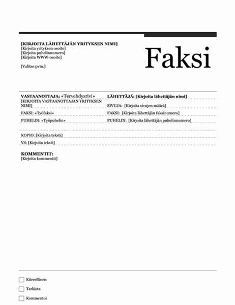 Postitietojen yhdistämisfaksi (Urbaani-teema)