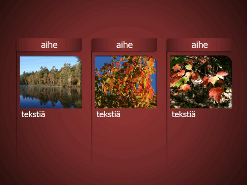 SmartArt-grafiikka, jossa on kuvia punaista taustaa vasten