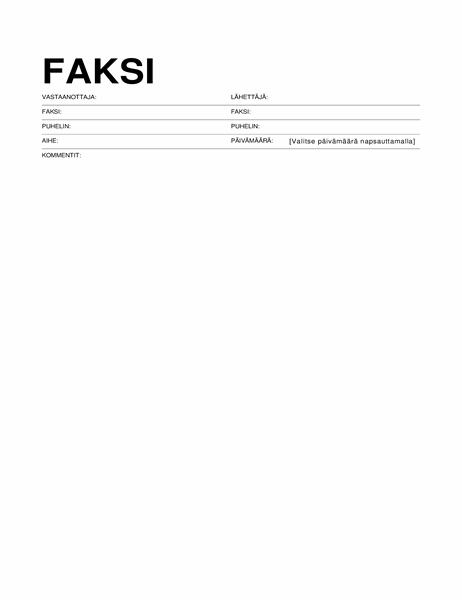 Faksin kansilehti (vakiomuoto)