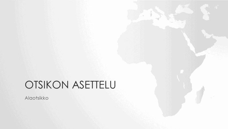 Maailmankartat-sarjan Afrikan mantereen esitys (laajakuva)