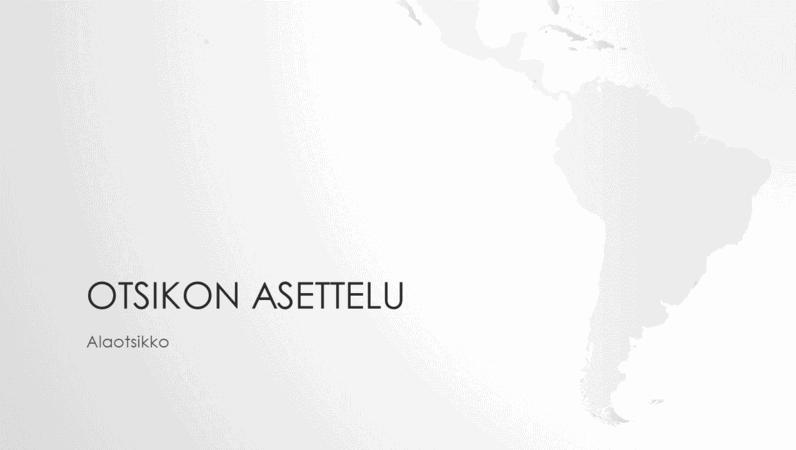 Maailmankartat-sarjan Etelä-Amerikan mantereen esitys (laajakuva)
