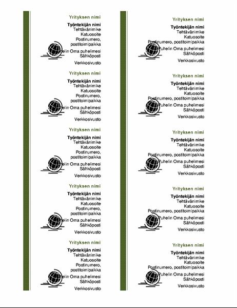 Käyntikortit (10/sivu, vaaka)