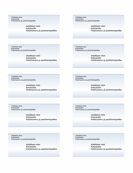 Lähetystarrat (sininen liukuvärikuvio, 10 yhdellä sivulla)
