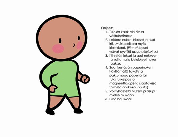 Paperinukkeja (poika, malli 2)