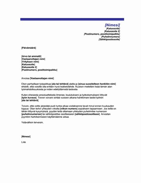 Haastattelupyyntö lisätietoja varten (teema: sininen viiva)