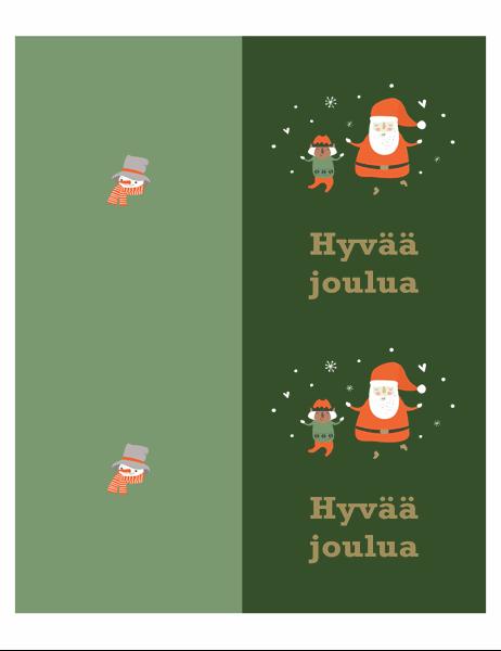Joulukortit (Joulun henki -teema, kaksi per sivu Avery-paperille)