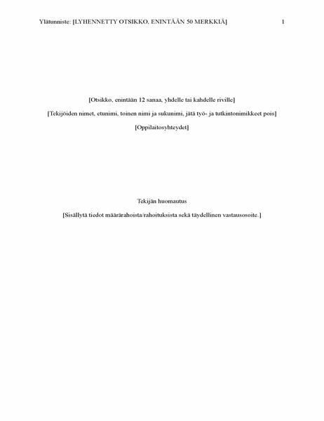 APA-tyylinen kirjoitelma (6. versio)