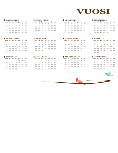 Lintu-vuosikalenteri (ma–su)