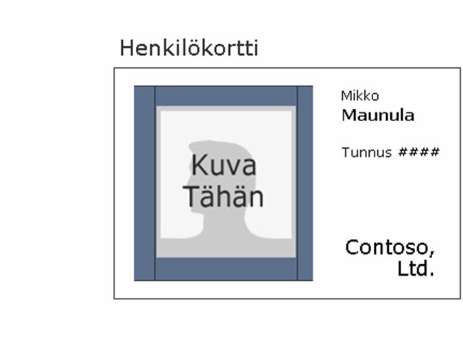 Työntekijän henkilökortti (vaaka)