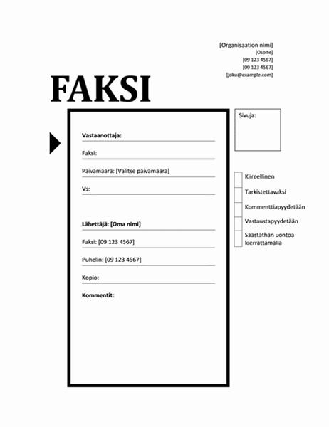 Faksin kansilehti (Tekniikka)