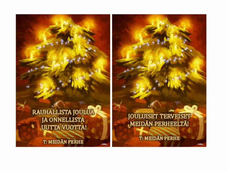 Joulukortit (joulukuusi)