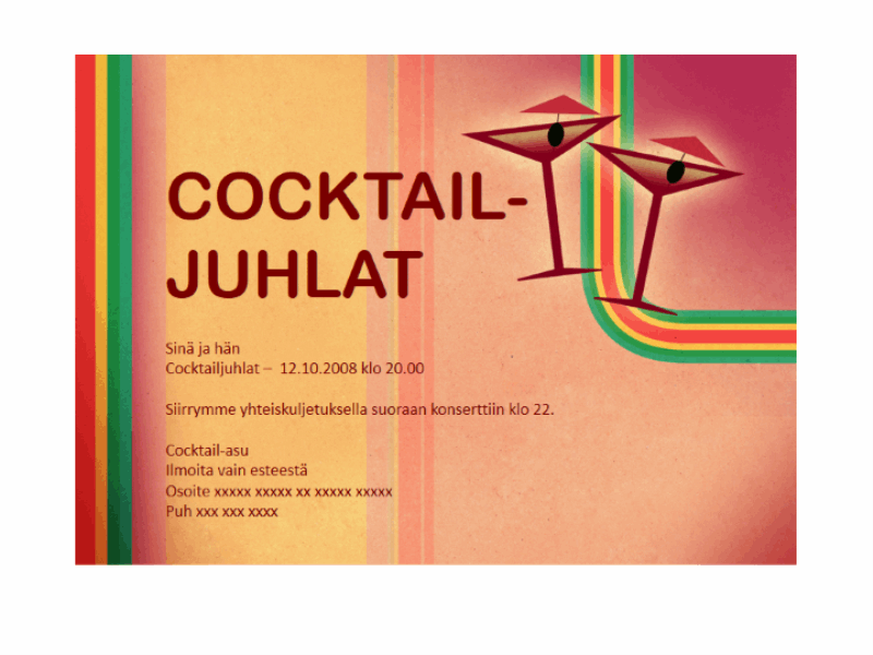 Kutsukortti (cocktailkutsut)