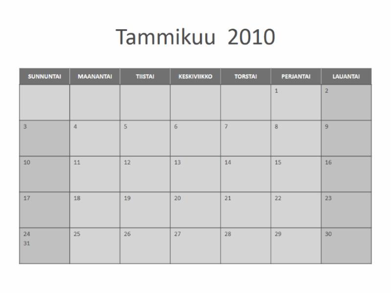 Kalenteri 2010