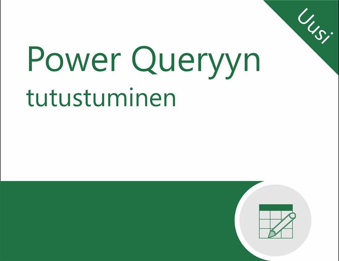 Power Queryn opetusohjelma