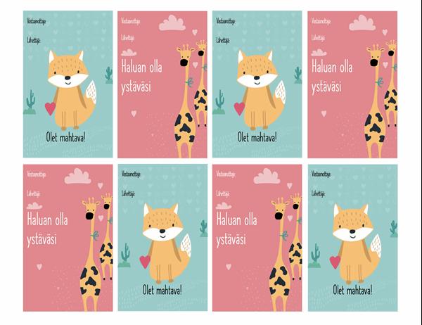 Lasten ystävänpäiväkortit