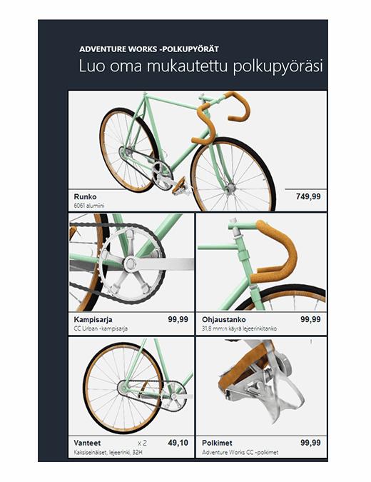 3D Excel -tuoteluettelo (Bike-malli)
