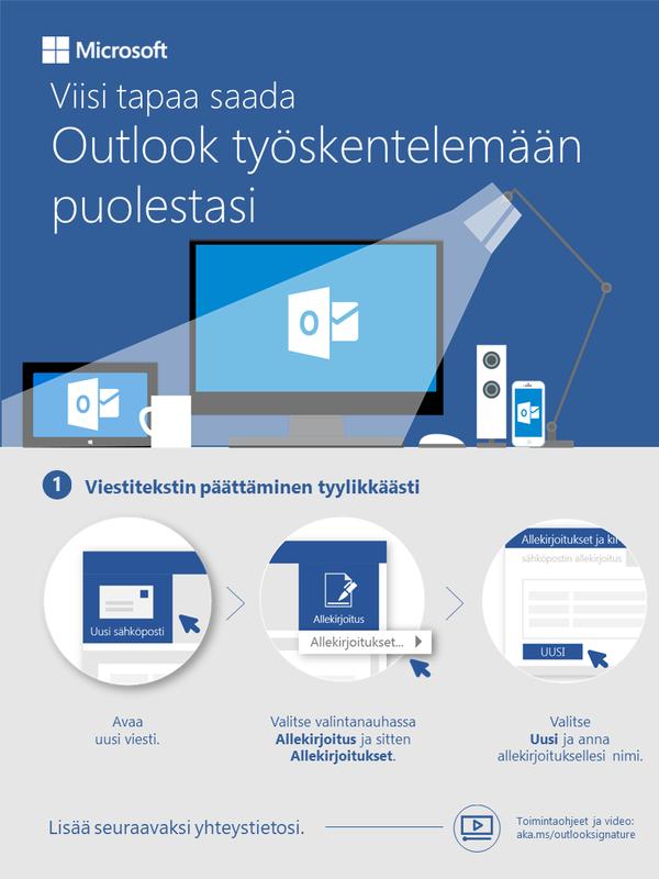 Viisi tapaa antaa Outlookin työskennellä puolestasi