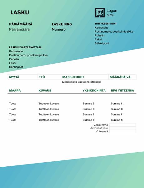 Palvelulasku (vihreä liukuvärikuvio)