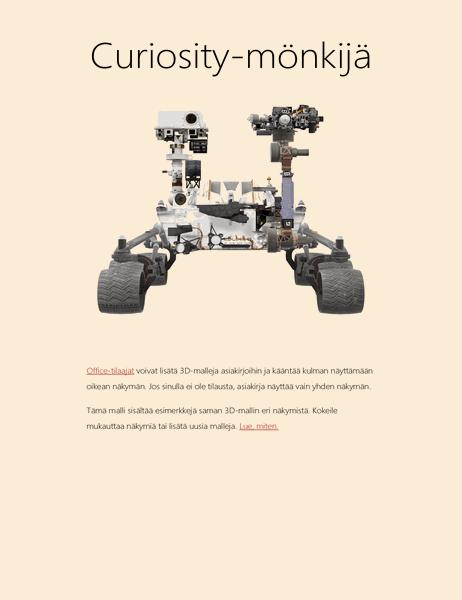 Wordin 3D-tiederaportti (Mars-mönkijän malli)