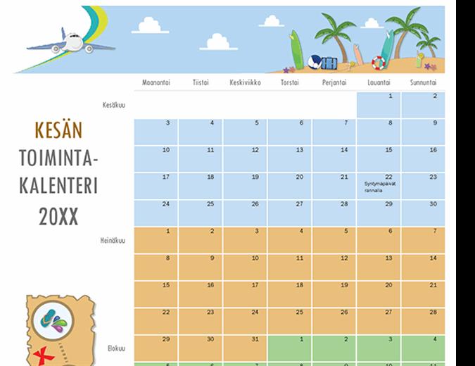 Kesän toimintakalenteri