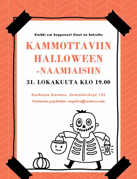 Halloween-kutsu (luuranko)